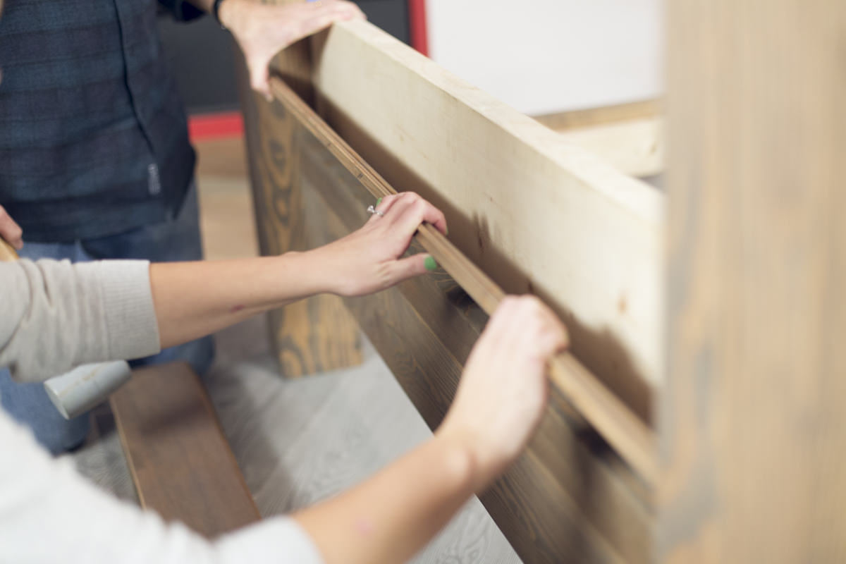 attaching bed frame headboard