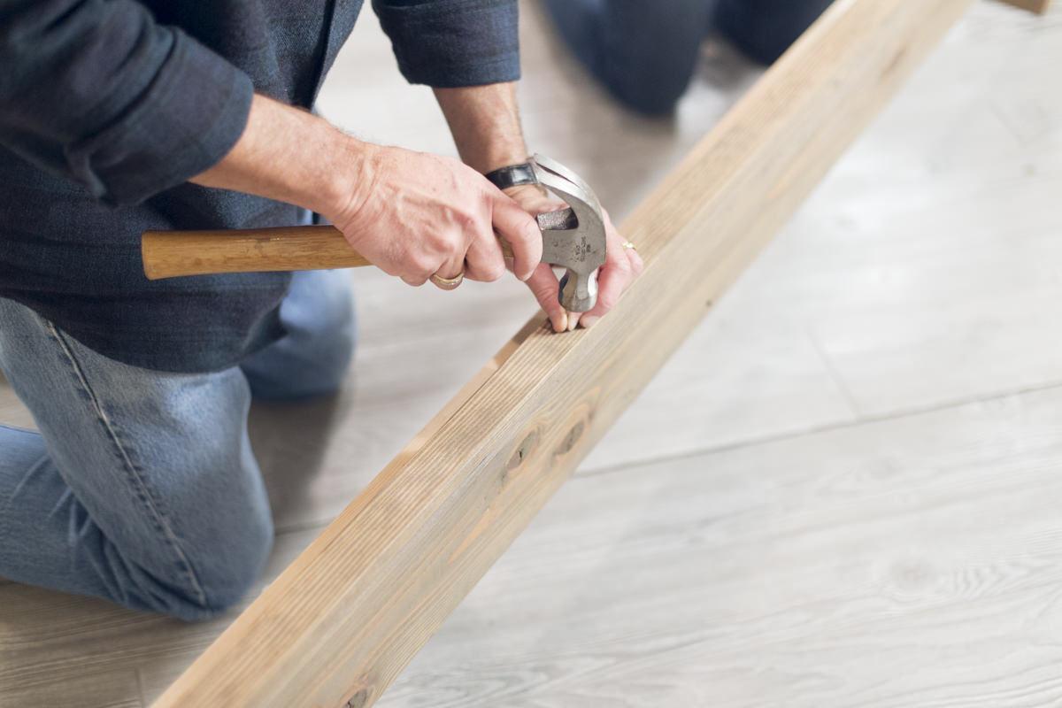 hammering bed frame