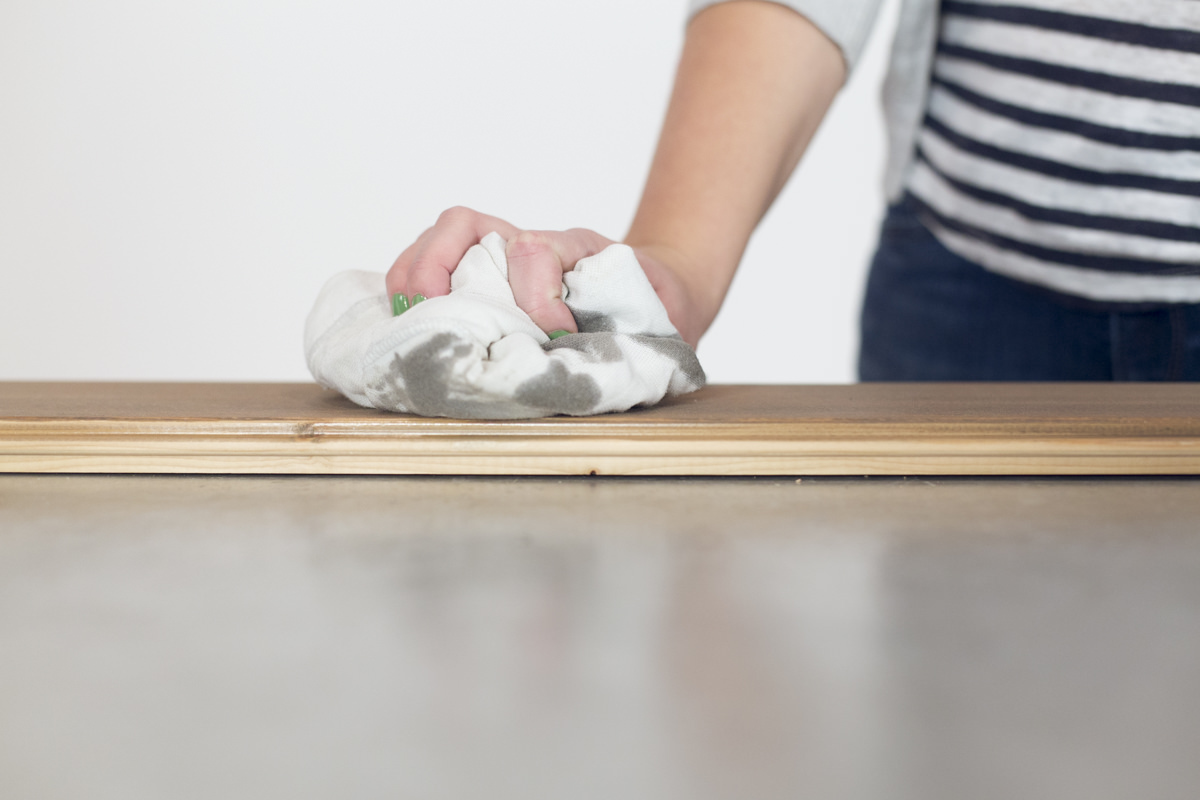 cleaning stain off wood