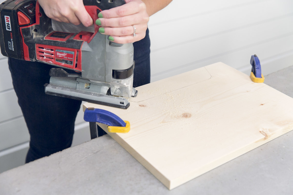 cutting plywood with jigsaw