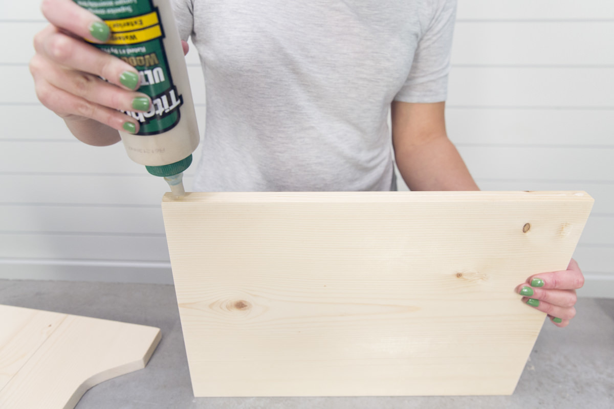 glue on plywood for diy cat bed