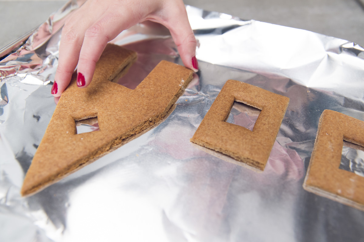 gingerbread house pieces