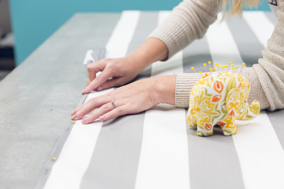 pinning hammock fabric