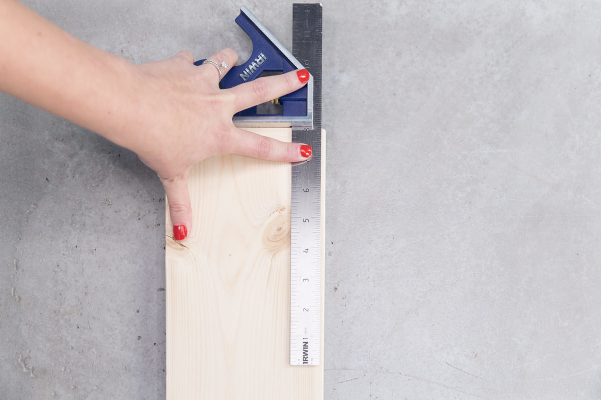 measuring wood board of height chart