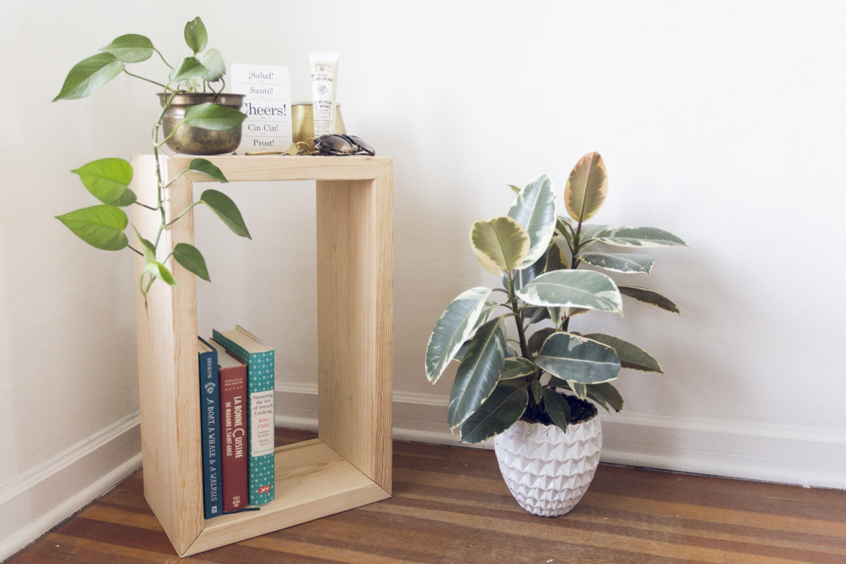 side table and plant