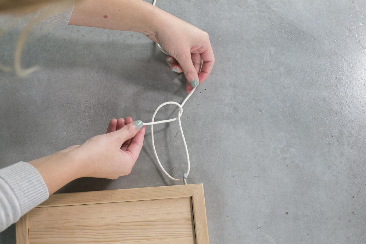 make a hanging shelf