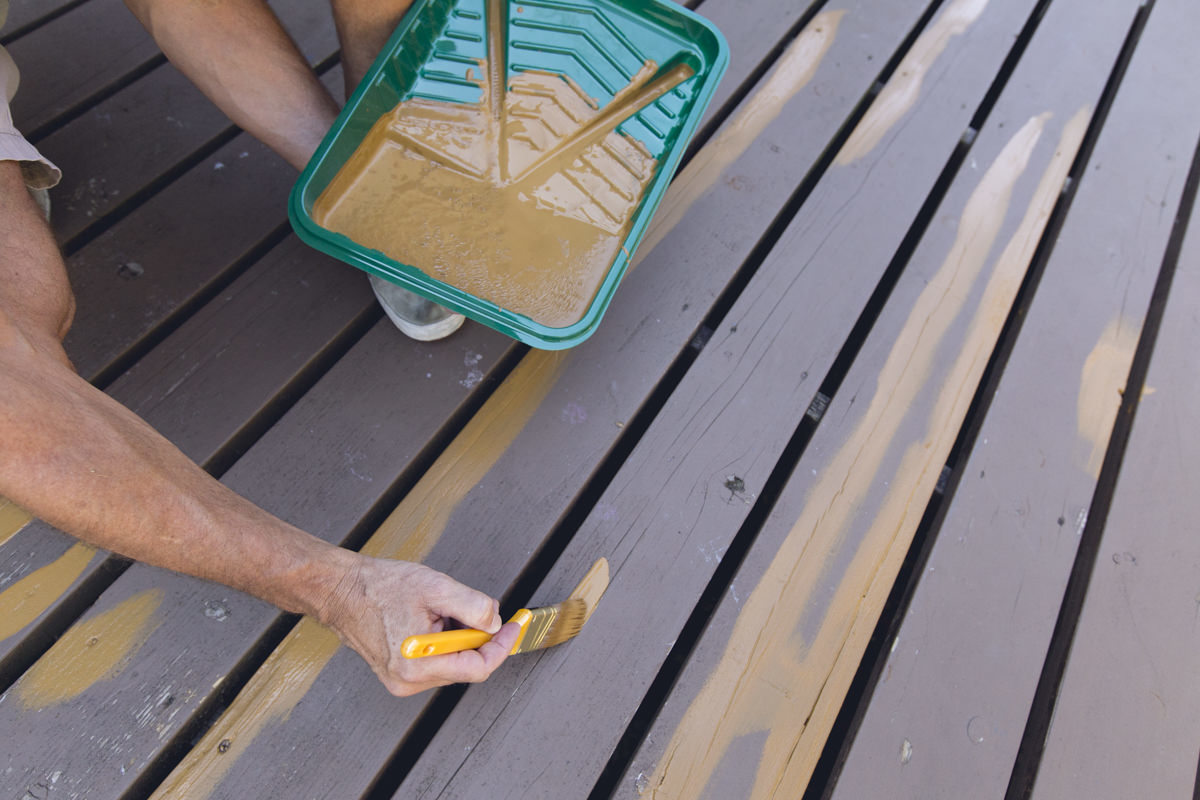 painting renewall on decking