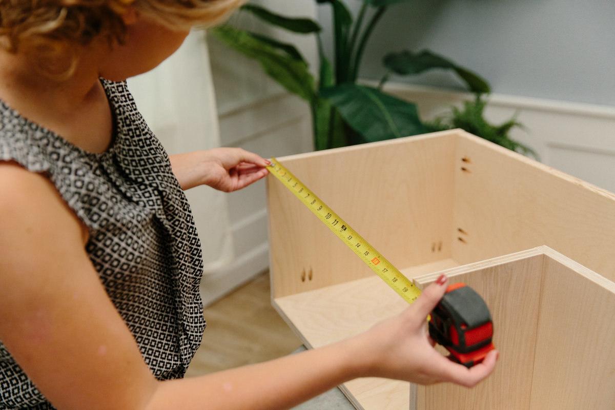 using tape measure