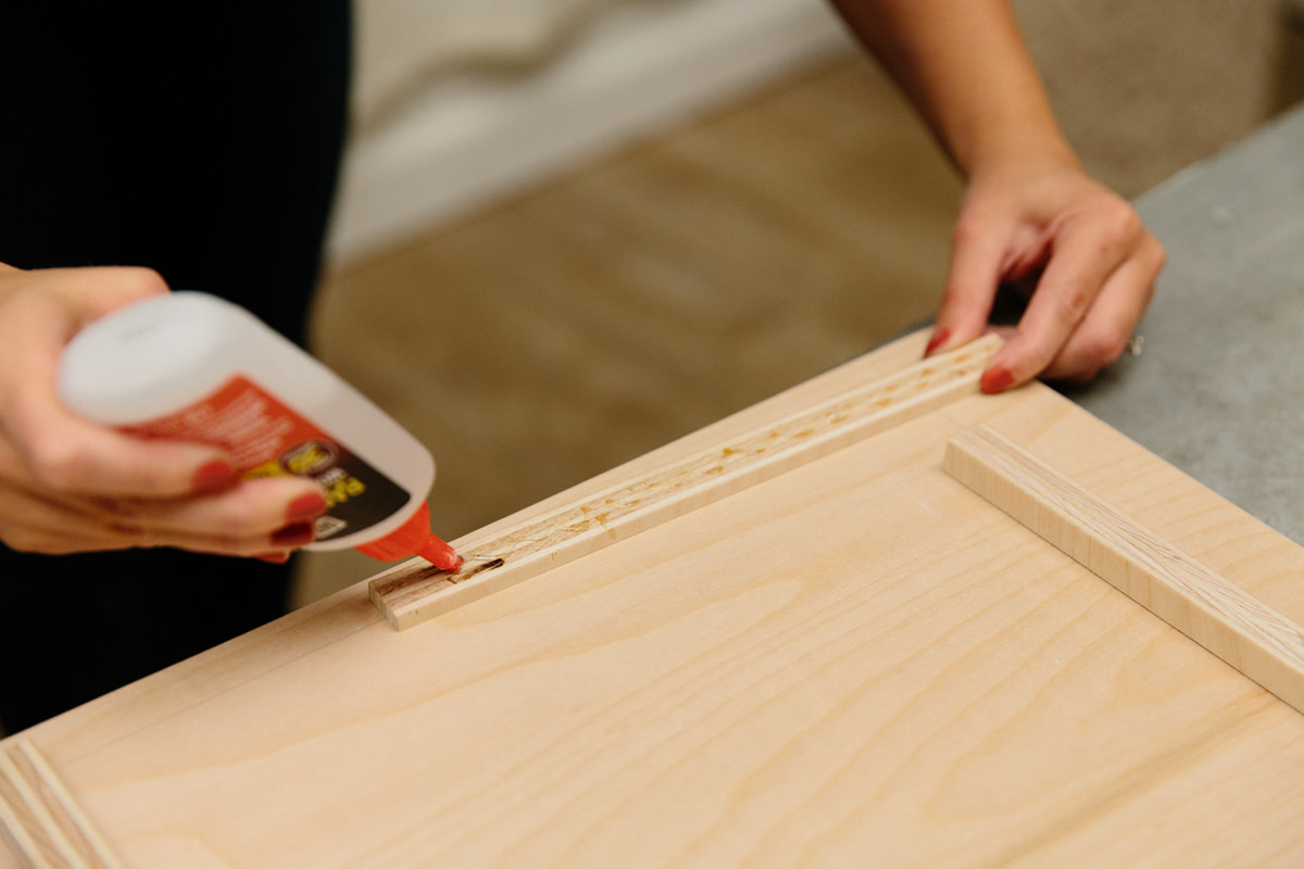 gluing ply wood
