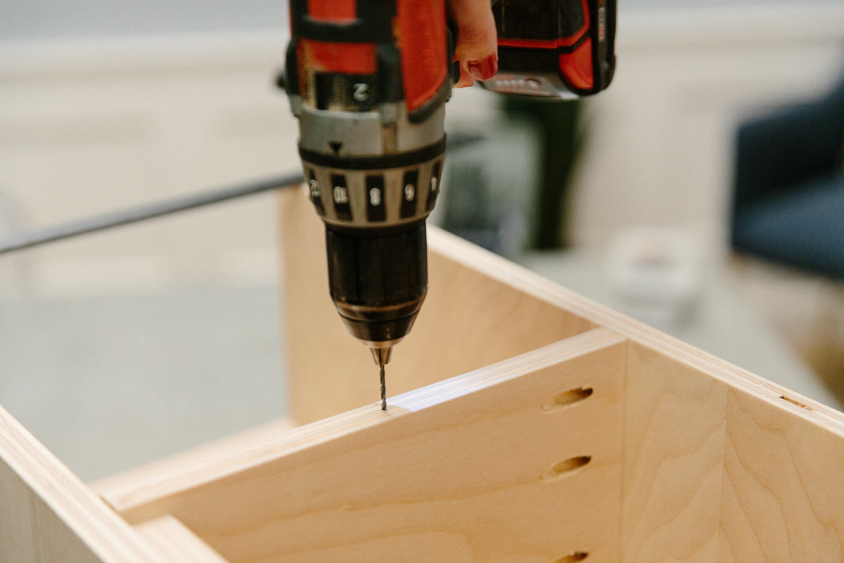 drilling into plywood