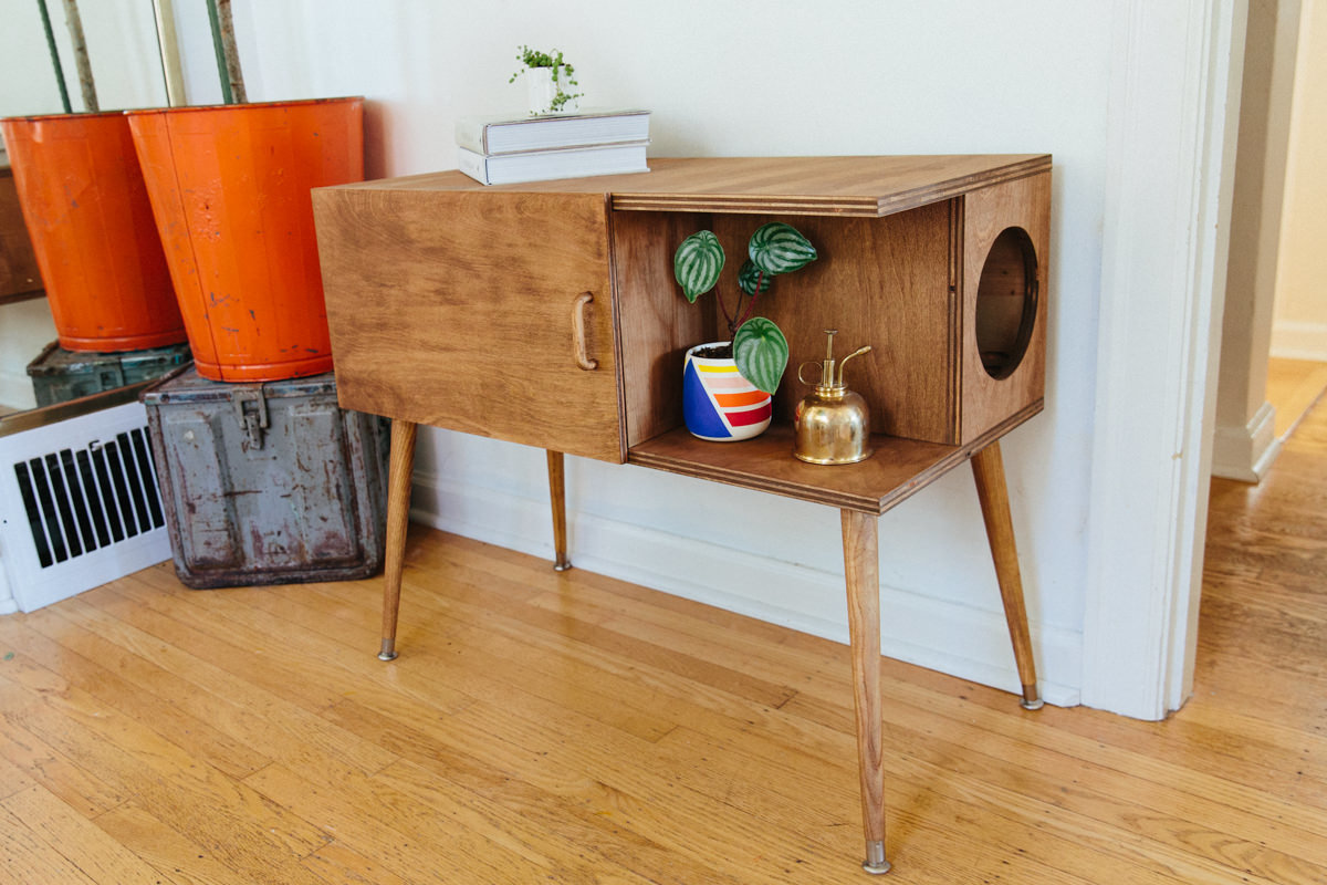 Diy Mid Century Cat Litter Box