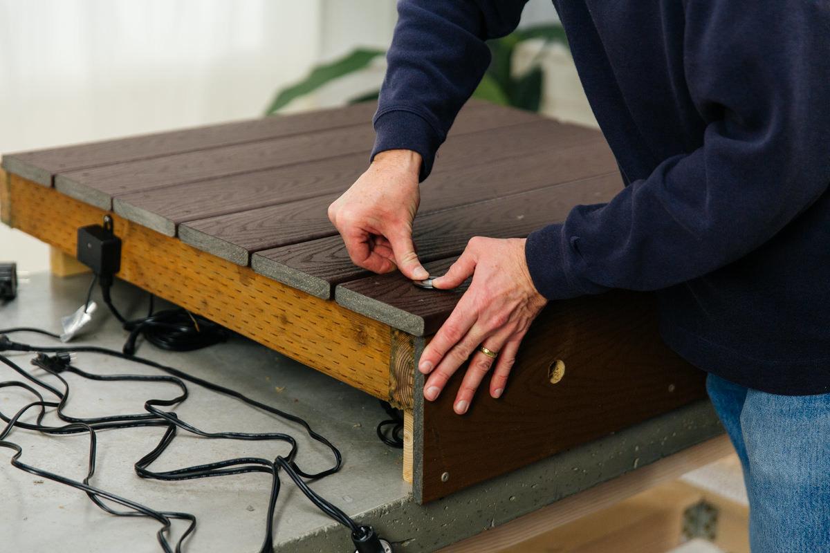 install the deck lighting