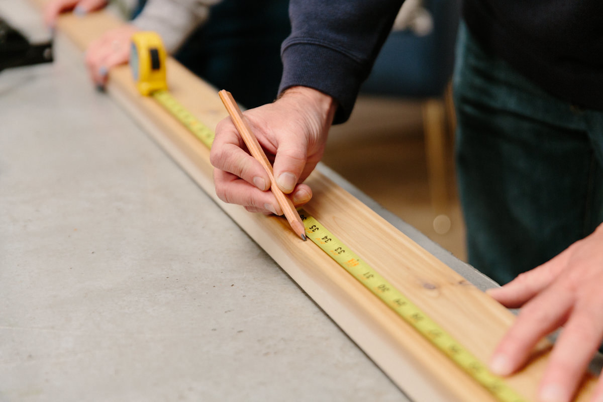 measuring wood for replacement gate