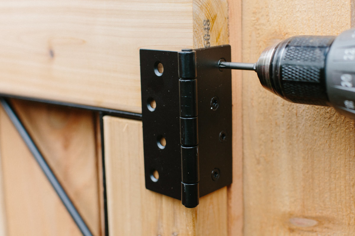 Screwwing in gate latch for replacement fence gate