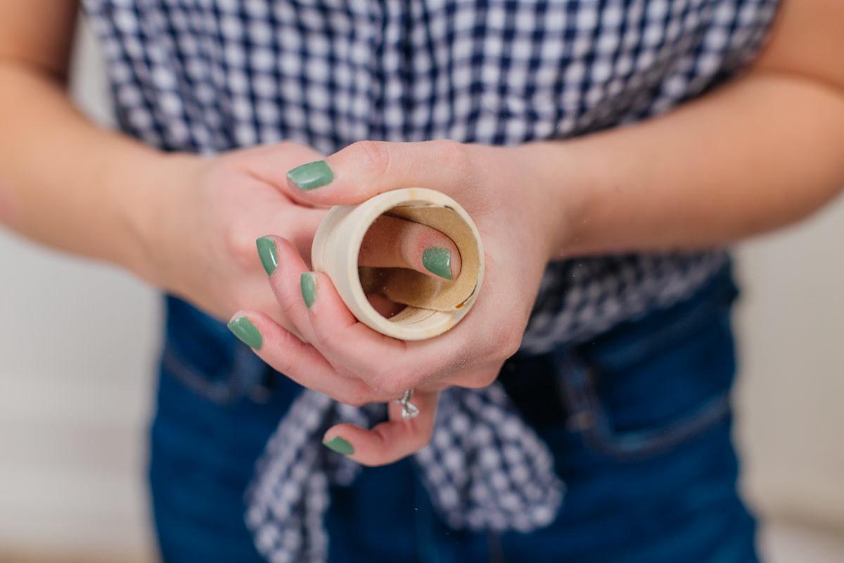 sanding napkin ring