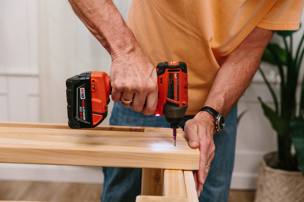 fastening top 2x4's for diy outdoor grilling station