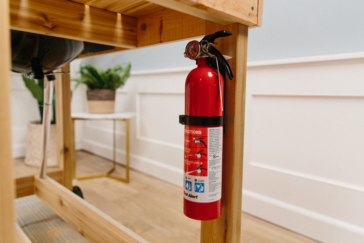 adding fire extinguisher for emergencies