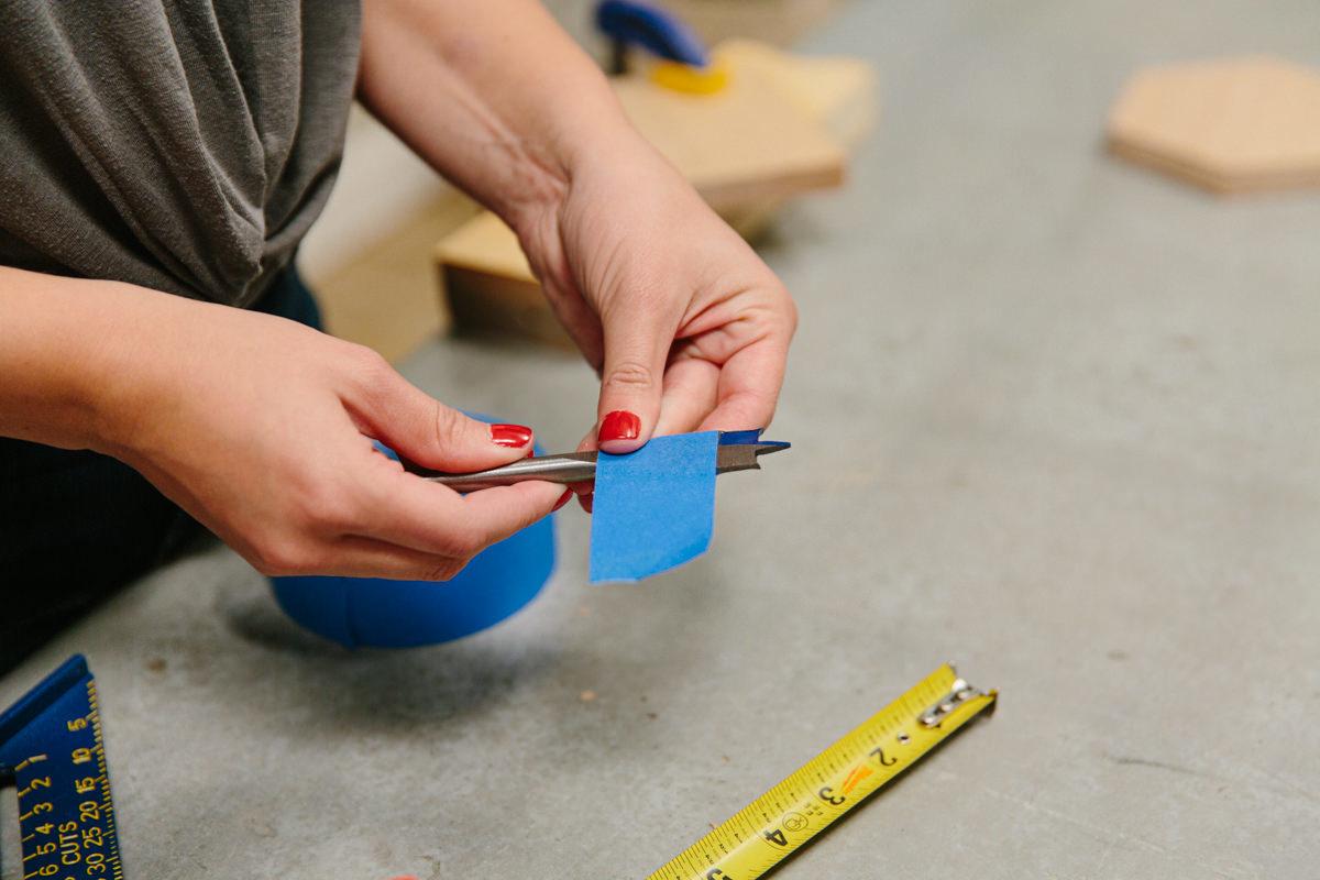 cutting masking tape