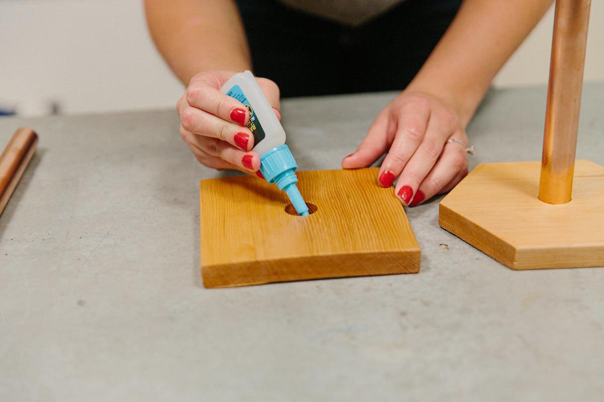 glue base of paper towel holder