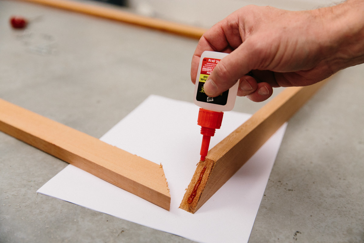 use exterior glue to hold the corners together