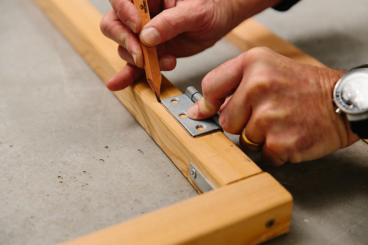 make adjustments as necessary before installing all the screws