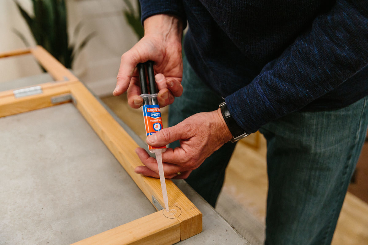 use quick-dry epoxy to glue the magnets