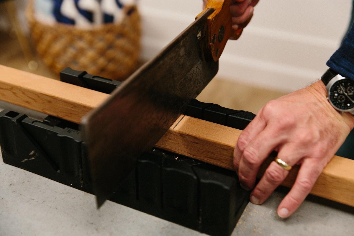 use a mitre box to make cuts