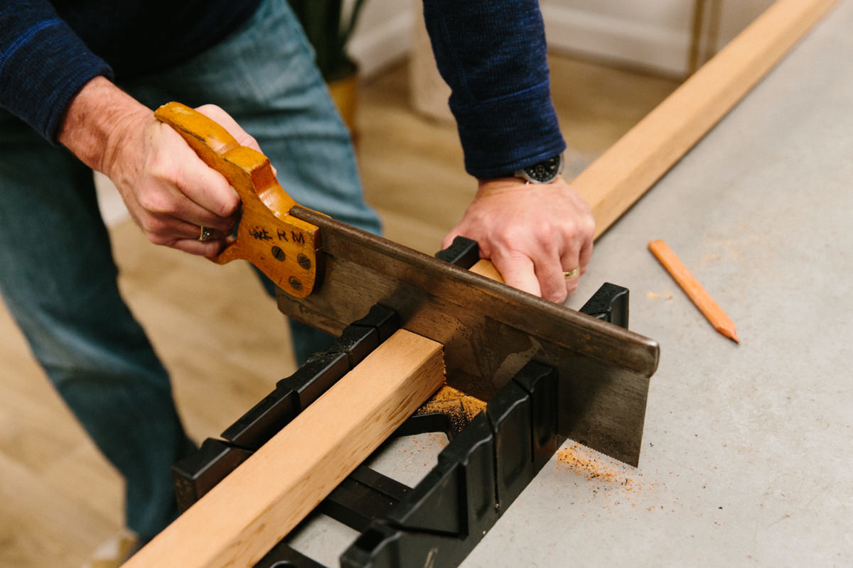 a mitre box helps make straight lines