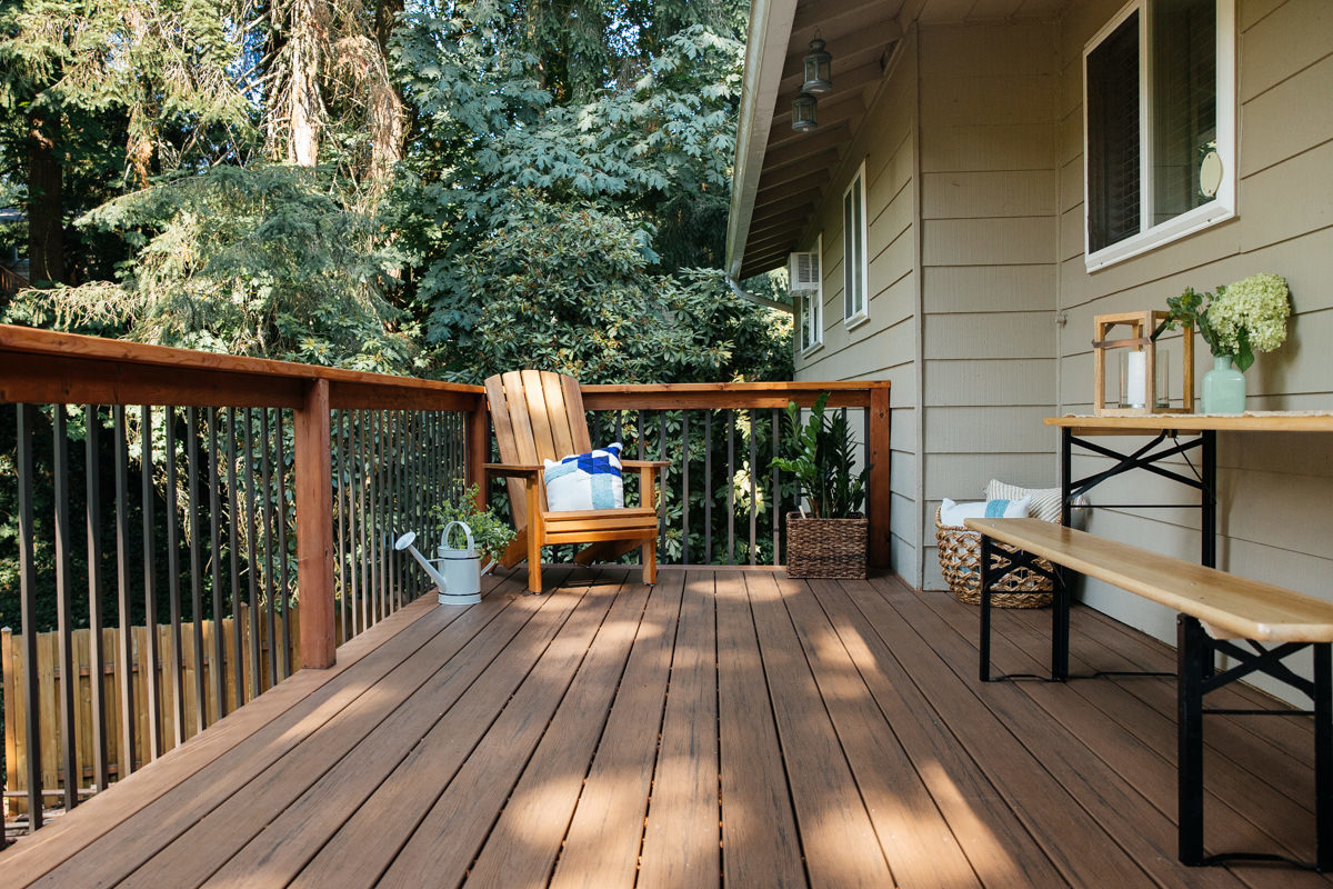 resurfacing a deck with composite decking