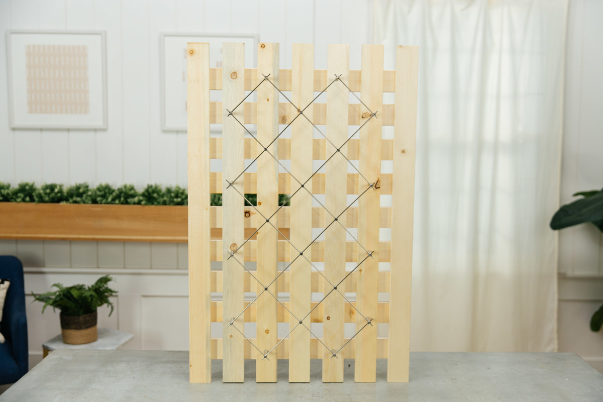 how to build a stainless steel garden trellis