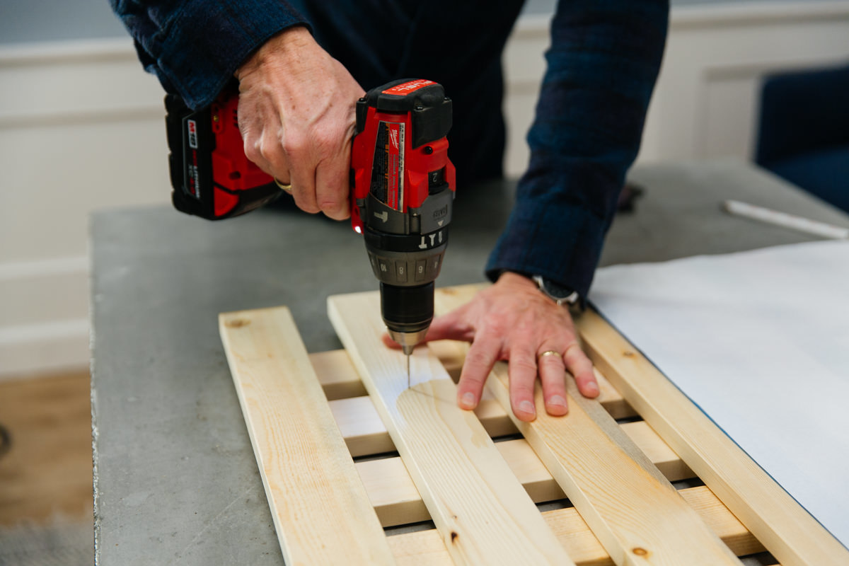 drill holes for hanger bolts