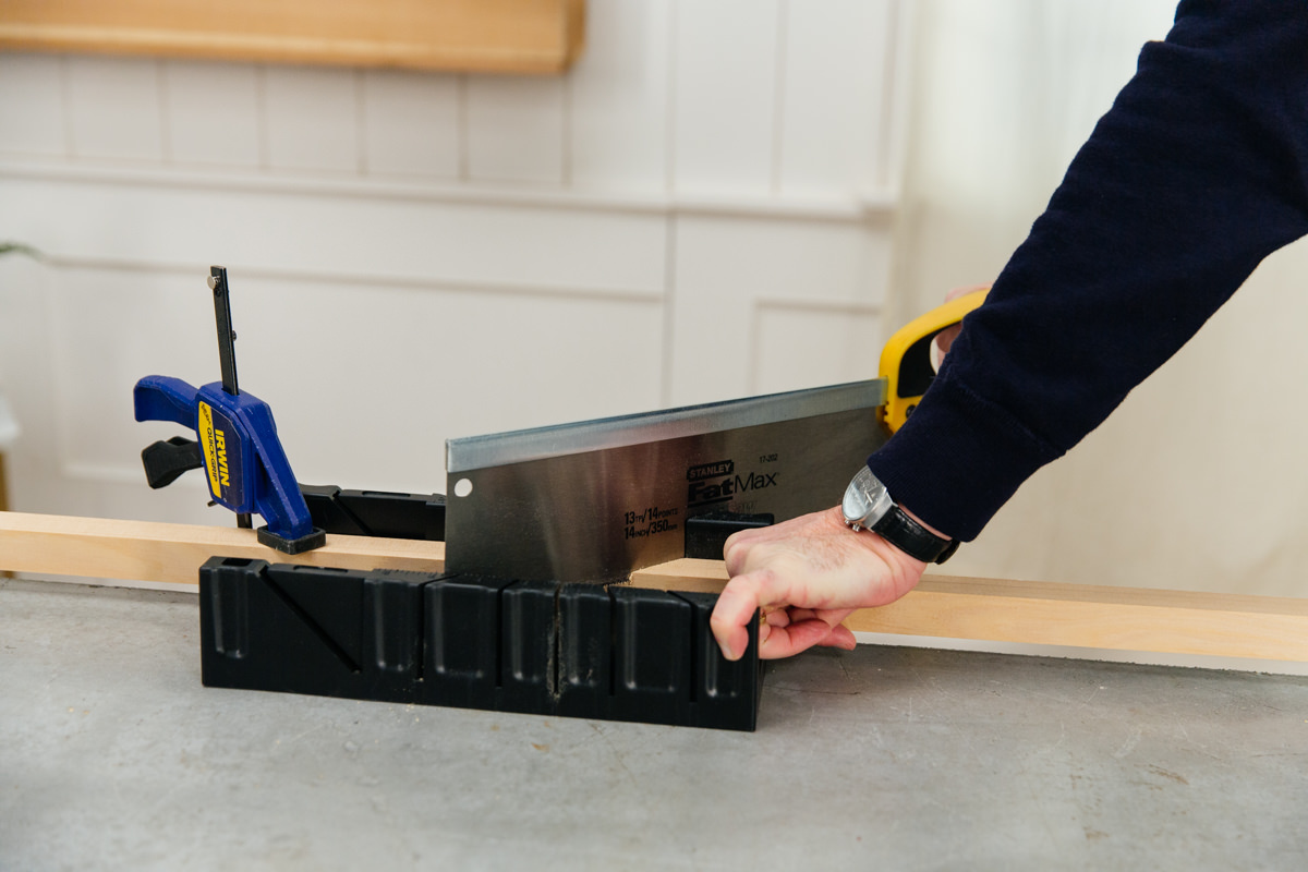 use a miter box and a hand saw