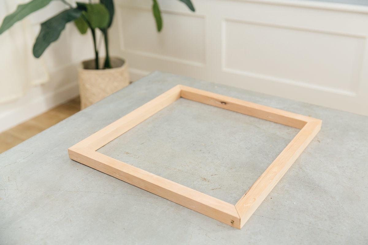 assemble the square frame