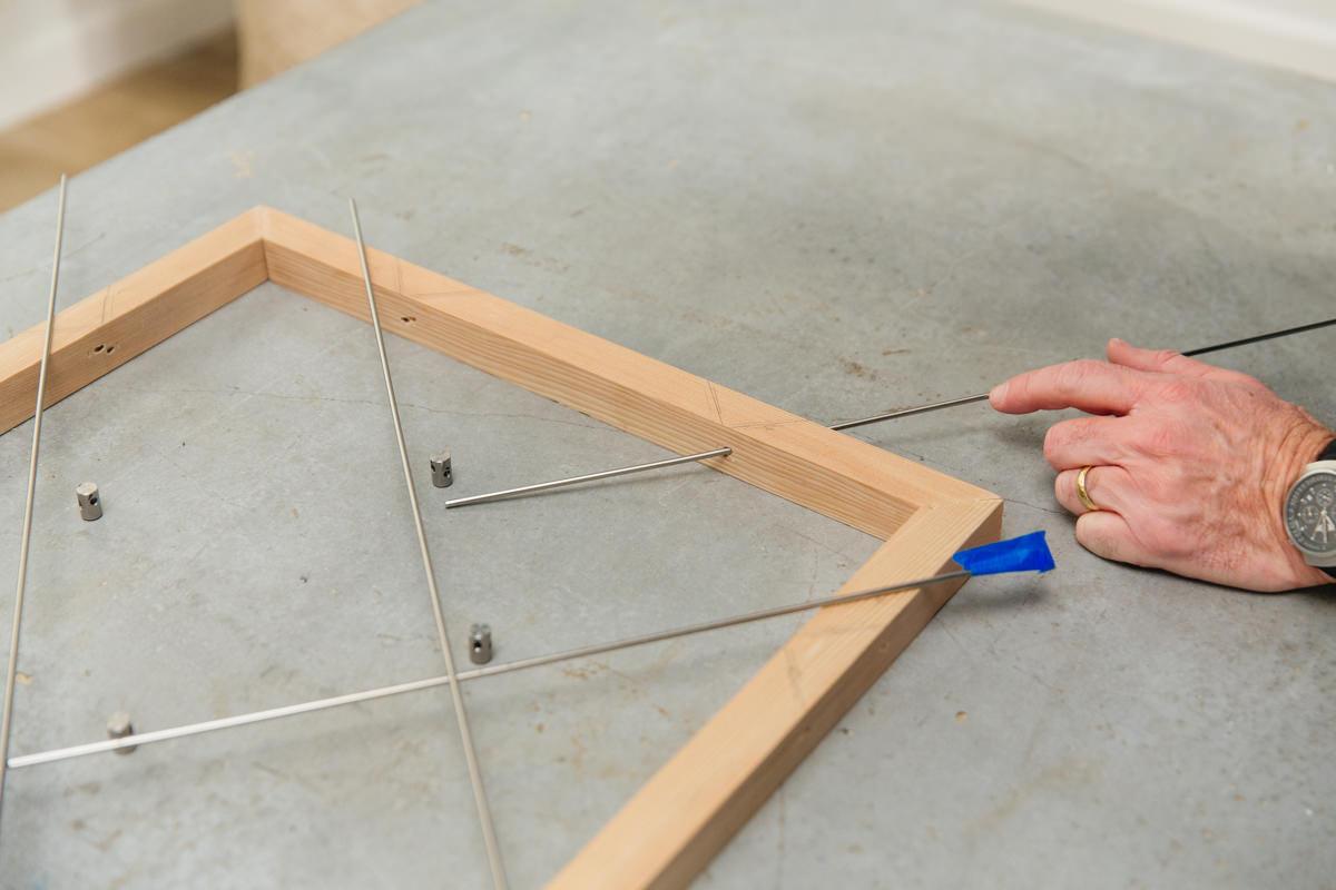 assemble and trim metal grid
