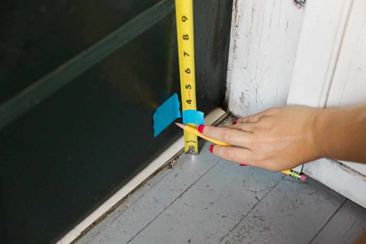 Mount door sweep onto door