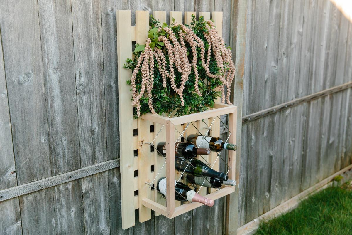 how to make a wine rack trellis