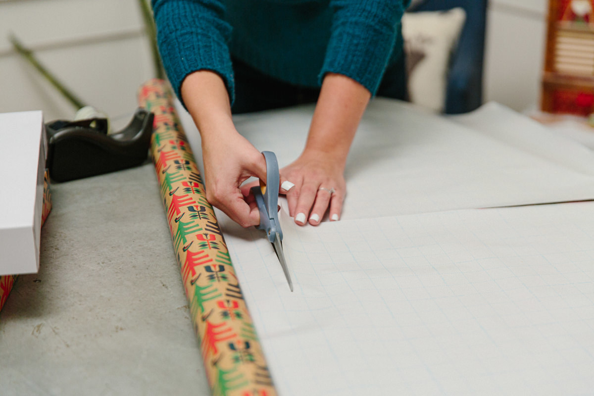 Cut out your wrapping paper