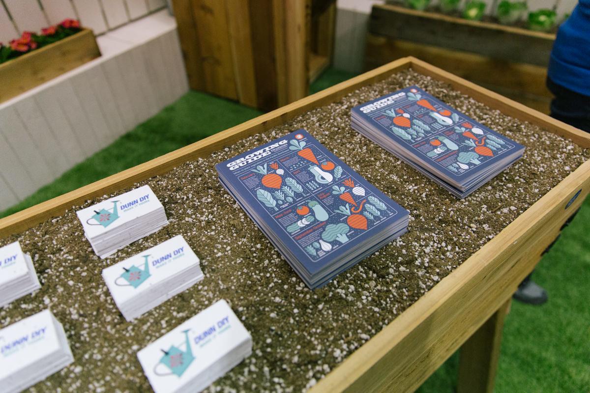 plantable business cards for Dunn DIY