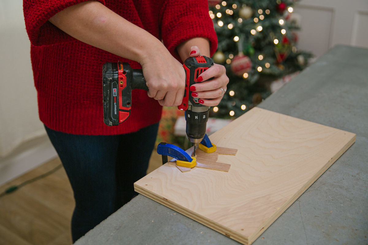Drill a hole to hang the ornament