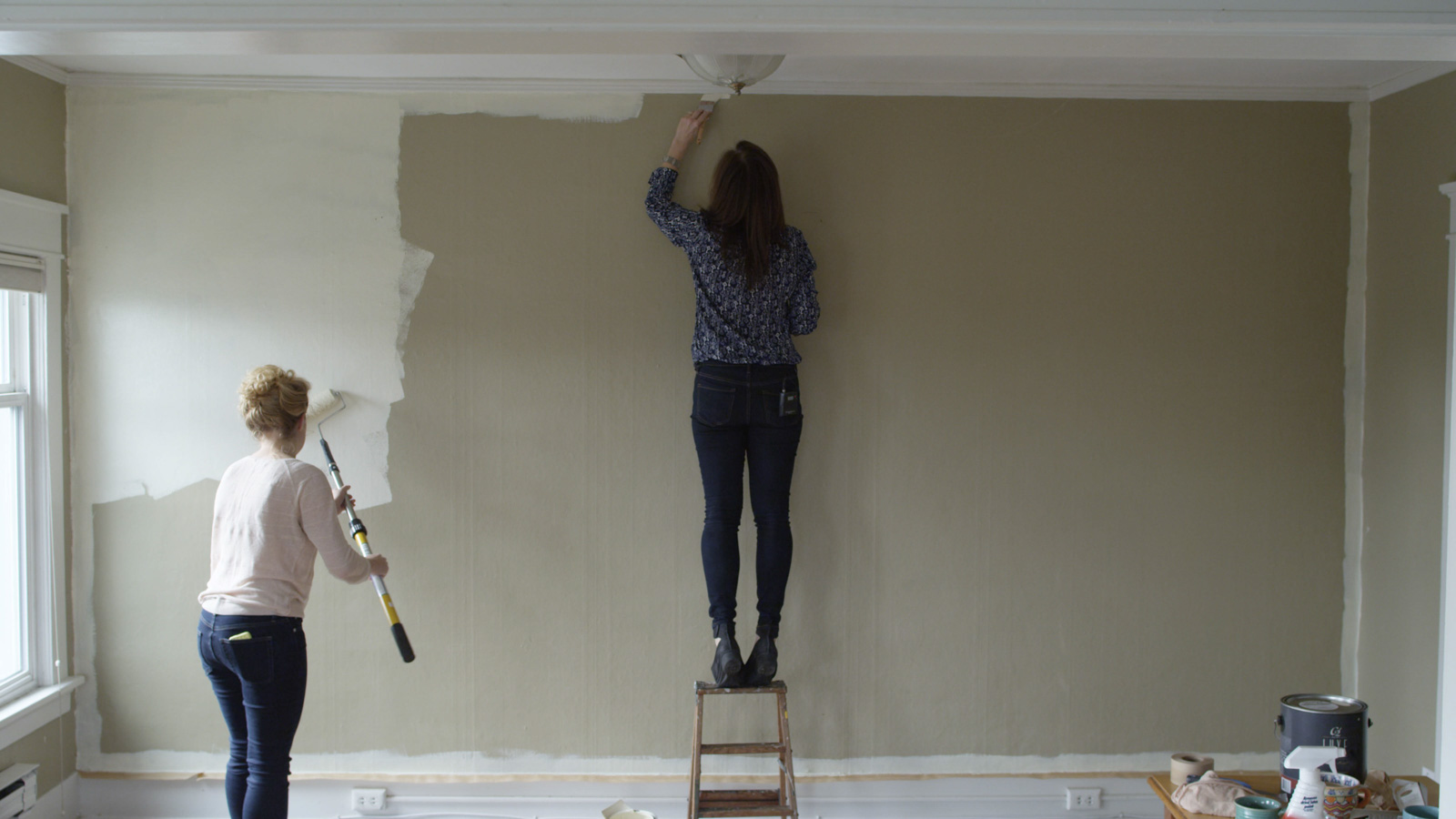 painting near the ceiling