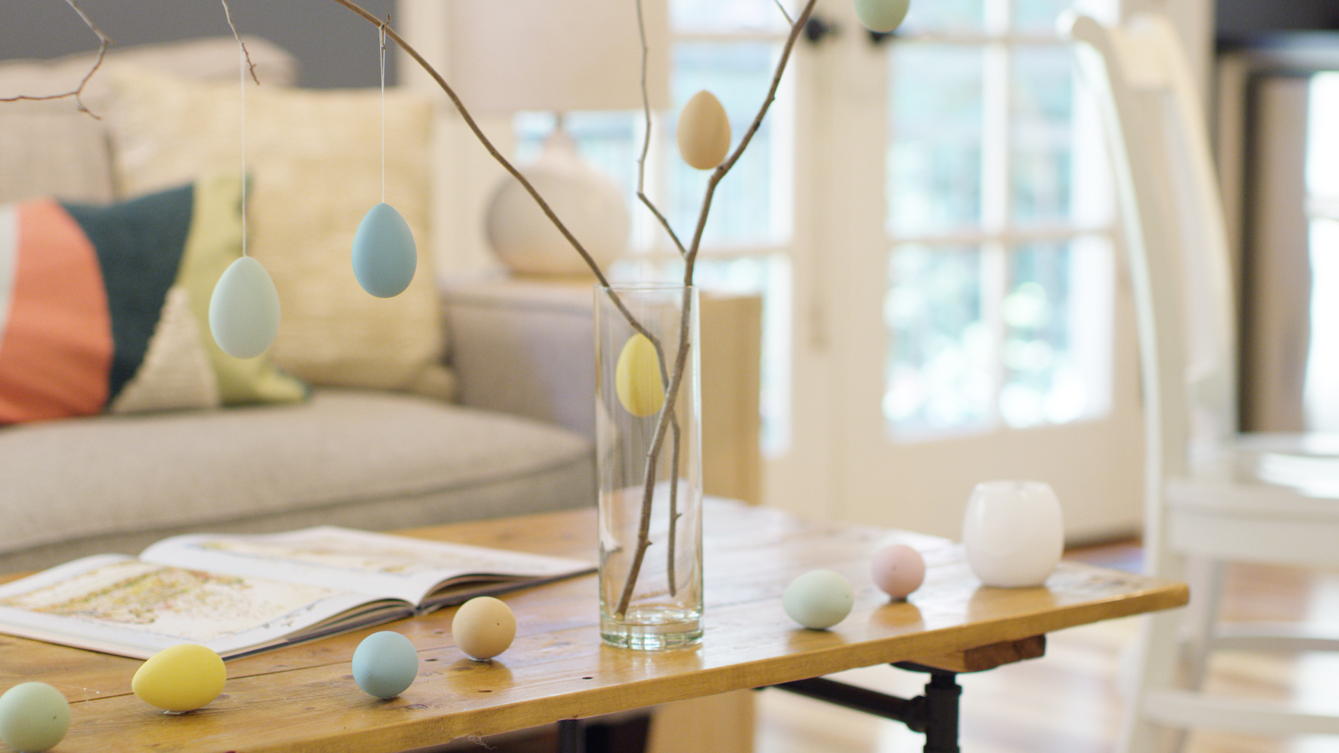 Build an Easter egg tree