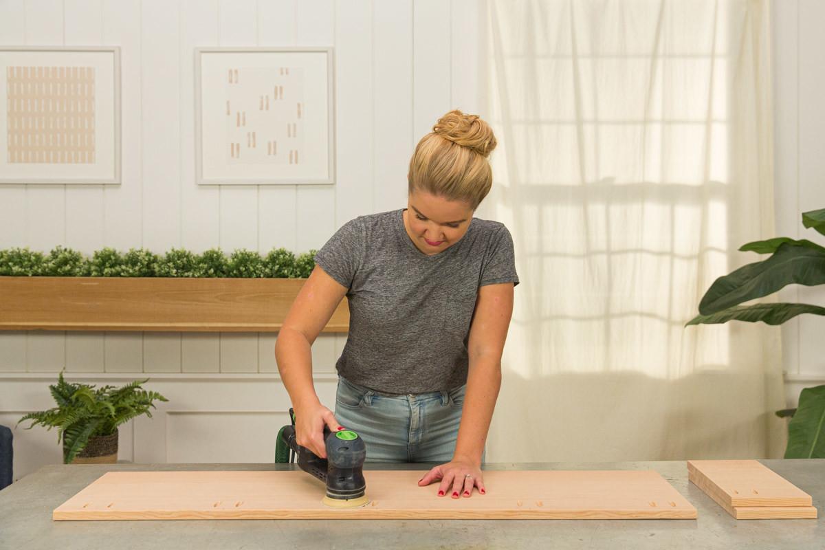 sand coffee table wood