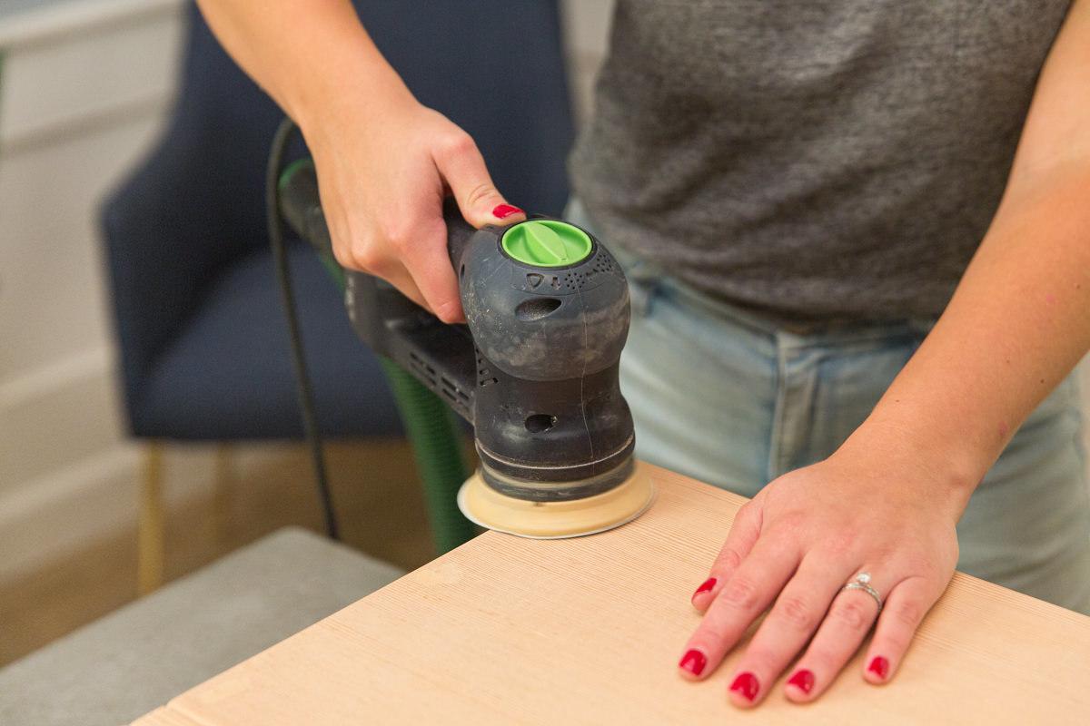 coffee table sanding