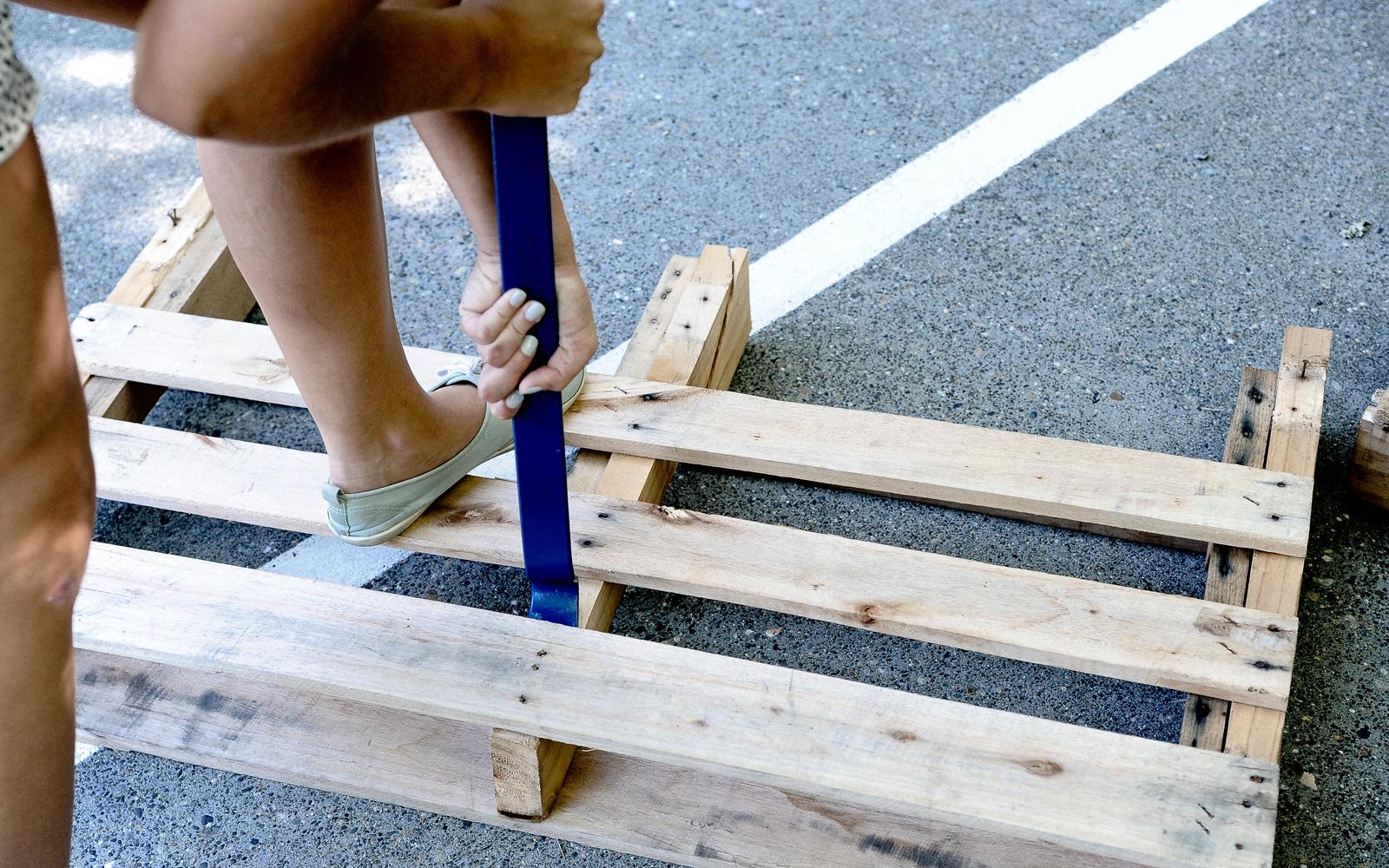 wood pallet for coat hanger