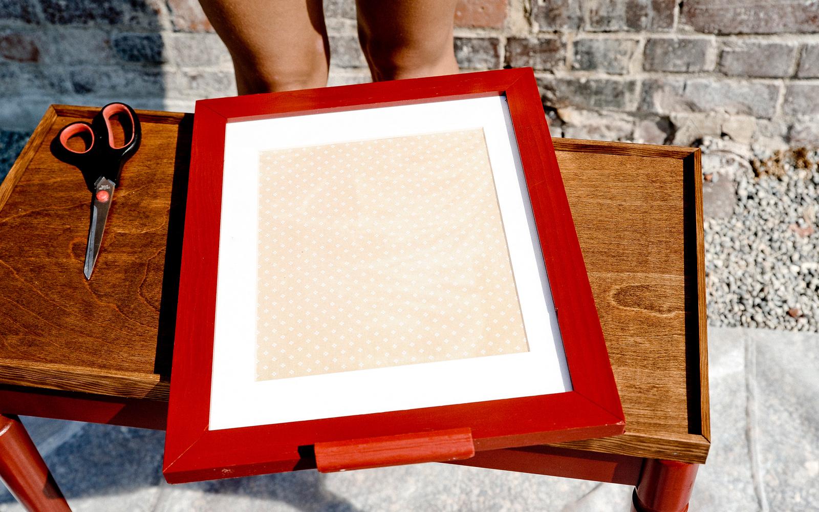 dry erase board frame diy