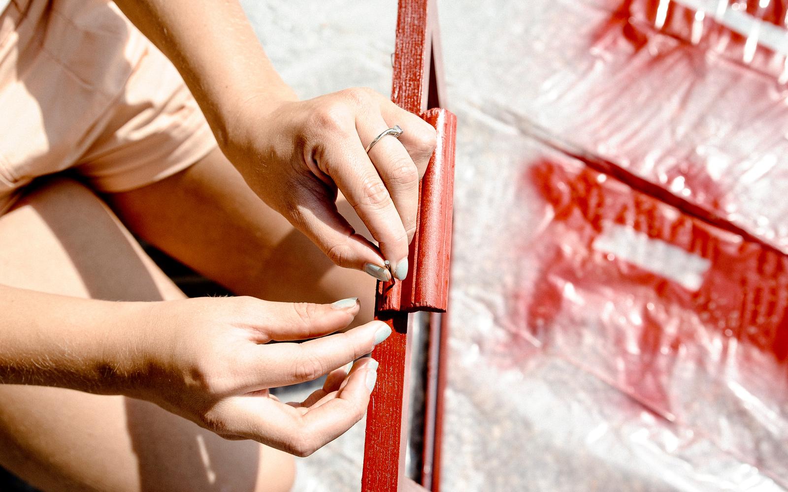 nailing dry erase board