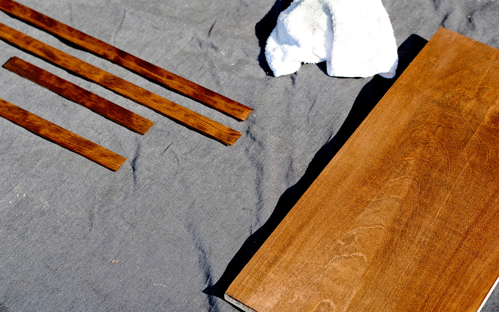 staining a piano bench 2