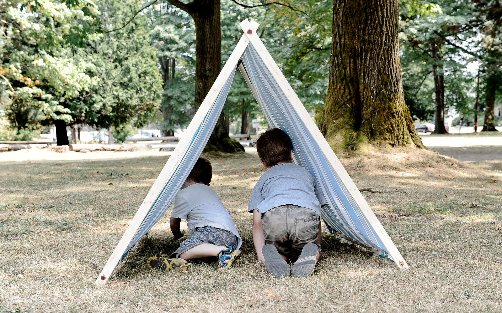 how to make a kids a frame tent