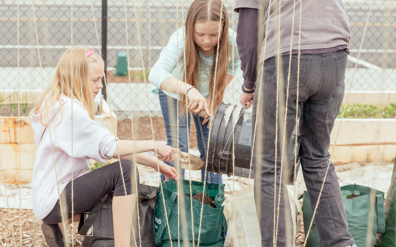 kids in community garden