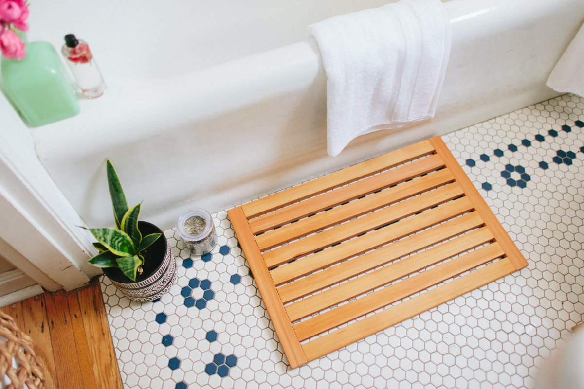 Diy Wooden Bath Mat Shower Mat